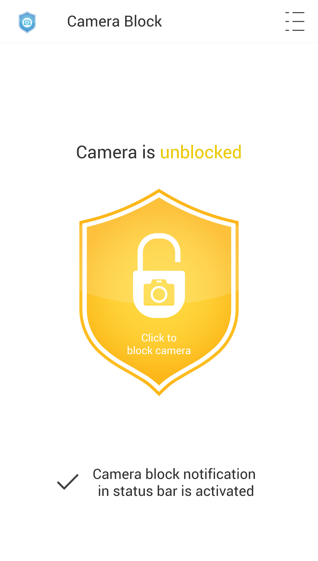 Camera Block Block Screen
